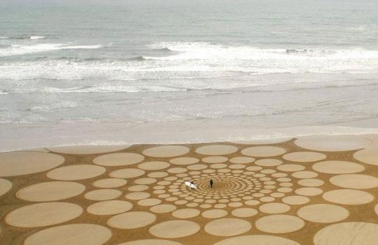 ζωγραφική στην άμμο
