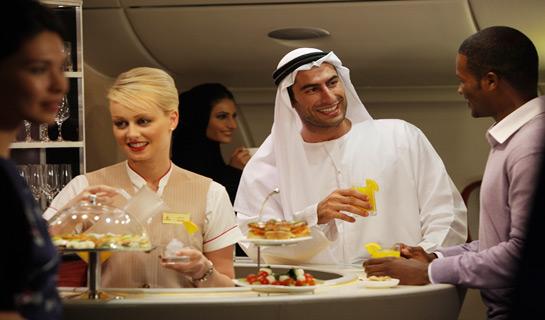 A380 Business Class lounge 2