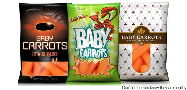Καρότα σε συσκευασία ...πατατάκια!