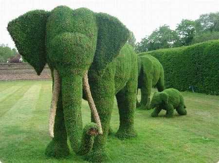 Sculptures from grass!