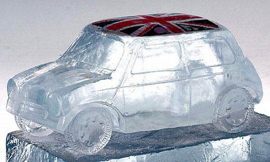 perierga.gr - Αυτοκίνητα από πάγο