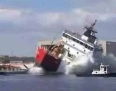 Περίεργη ... καθέλκυση πλοίων!