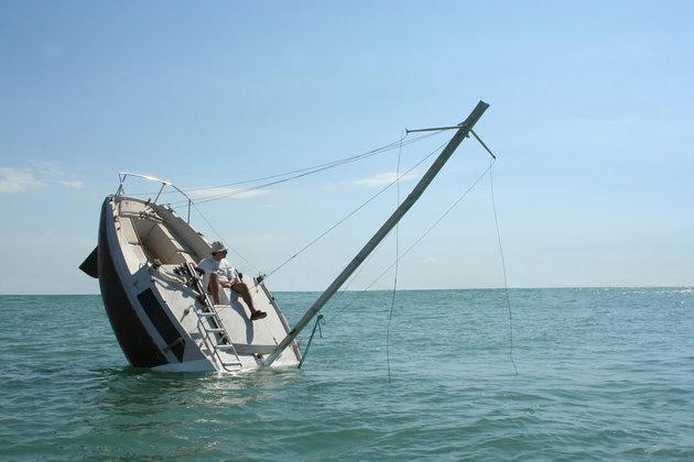 Το σκάφος που… μοιάζει να βυθίζεται!