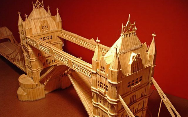 Perierga.gr - Constructions of toothpicks