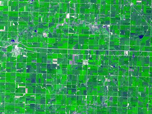 Perierga.gr - Αγροτικές καλλιέργειες από το διάστημα