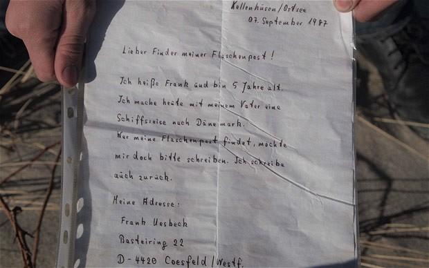 Perierga.gr - Μήνυμα σε μπουκάλι απαντήθηκε 24 χρόνια μετά