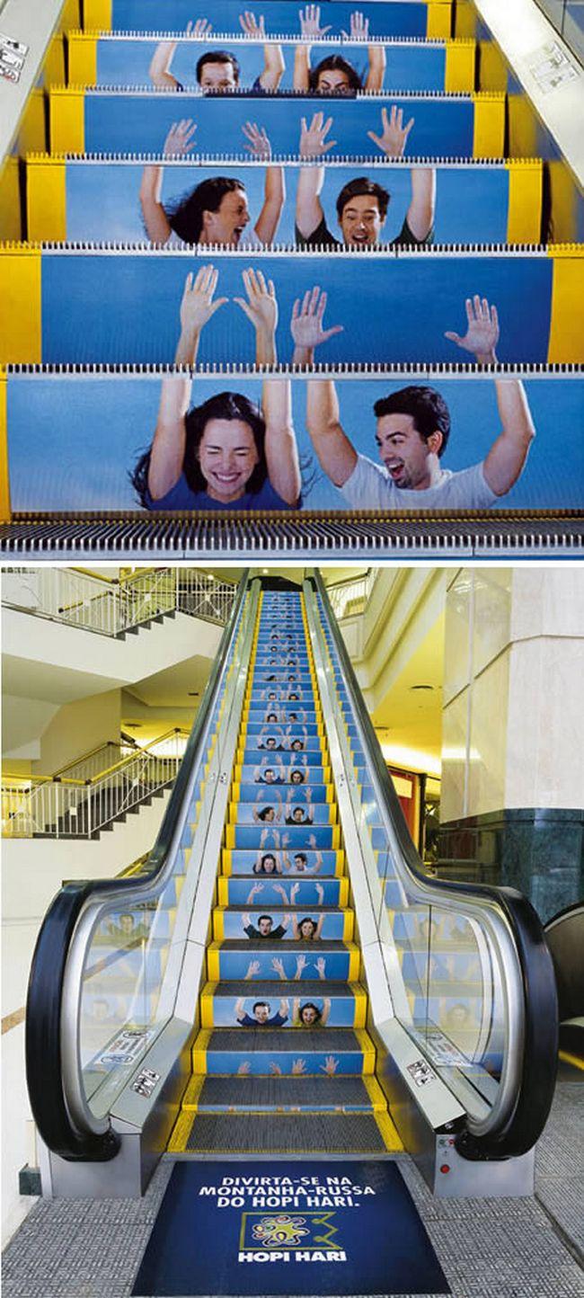Perierga.gr - Κυλιόμενες σκάλες και διαφήμιση