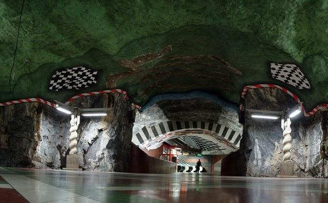 Perierga.gr   Το μετρό της Στοκχόλμης είναι έργο τέχνης