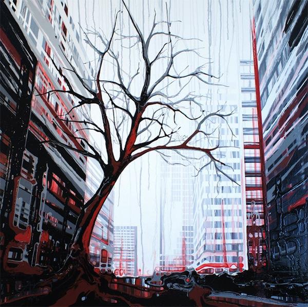 perierga.gr - Νεαρή ζωγράφος χρησιμοποιεί τη βαρύτητα σαν πινέλο!