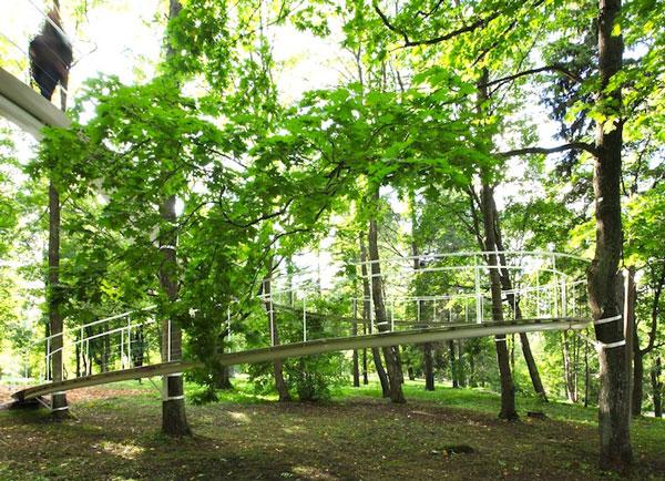 perierga.gr - Ένα τεχνητό μονοπάτι... αιωρείται στο δάσος!