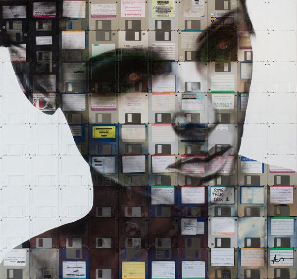perierga.gr - Εκπληκτικά πορτρέτα από... δισκέτες Η/Υ!