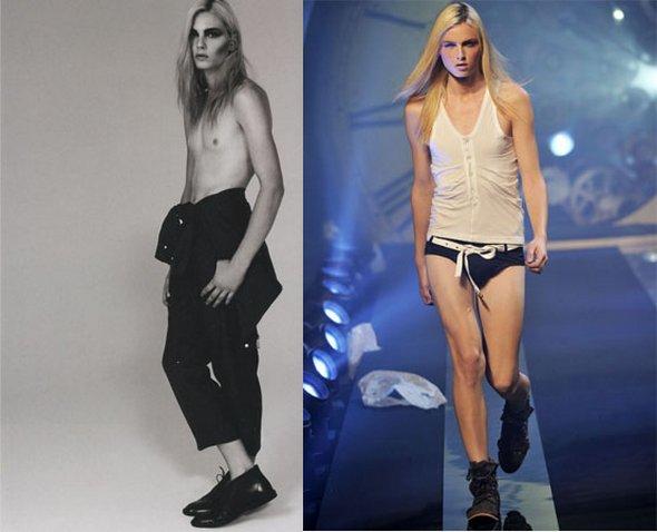 Γυναίκα ή άντρας μοντέλο; Μάντεψε!