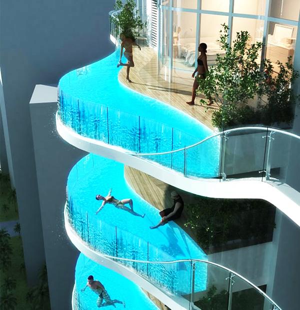 perierga.gr - Τα μπαλκόνια του μέλλοντος θα έχουν και... πισίνα!