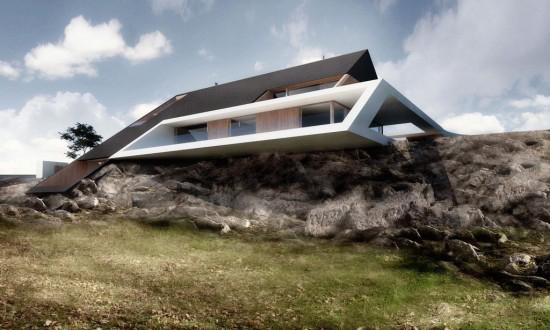 perierga.gr - Ένα σπίτι ιδανικό για τις... πλαγιές!