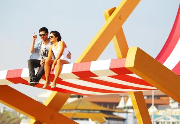 "perierga.gr - Μια γιγάντια ξαπλώστρα ""καλωσορίζει"" το καλοκαίρι!"