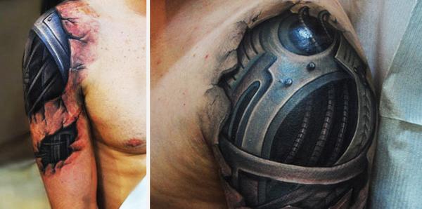 perierga.gr - Τατουάζ του τρόμου: Πιο ρεαλιστικά δεν γίνεται!