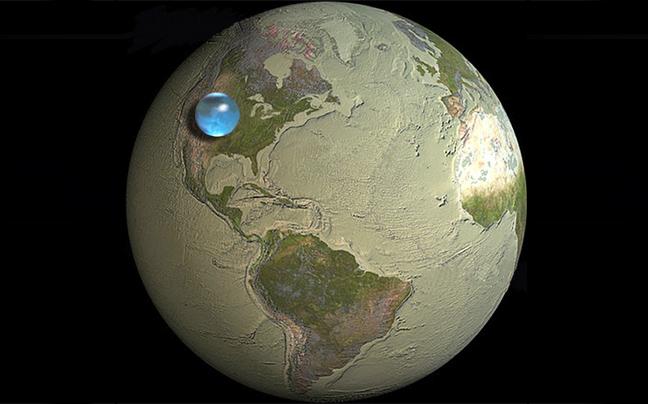 Perierga.gr - Όλο το νερό της Γης σε μια... μικρή σφαίρα!