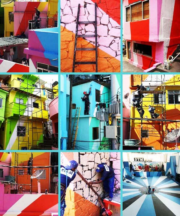 perierga.gr - Οι φαβέλες των φτωχών απέκτησαν χρώμα!