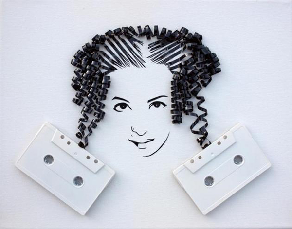 perierga.gr - Cool portraits of old cassettes!