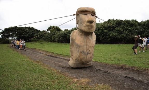 Perierga.gr - Τα αγάλματα στο Νησί του Πάσχα... ''περπατούν''!