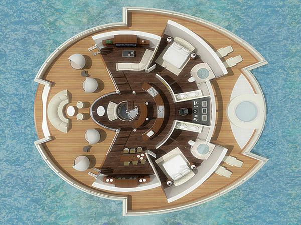 "perierga.gr - Πολυτελές resort ""επιπλέει"" στη θάλασσα!"
