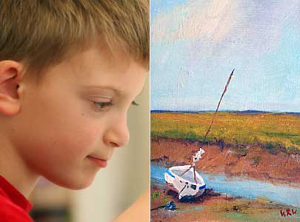 perierga.gr - Ιμπρεσιονιστής ζωγράφος... 9 ετών!