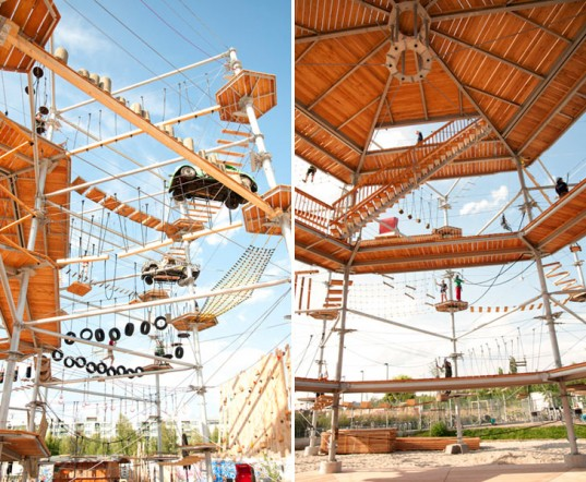 perierga.gr - Ένα αστικό πάρκο για ατελείωτο... σκαρφάλωμα!