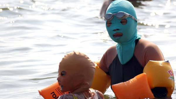 perierga.gr - Η νέα μόδα στις παραλίες της Κίνας...
