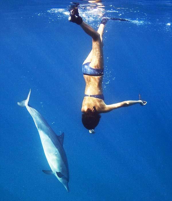 perierga.gr - Το κορίτσι και τα δελφίνια!