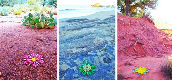 "perierga.gr - ""Προσωρινή"" τέχνη με υλικά της φύσης!"