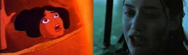 "perierga.gr - 19 απίθανες ομοιότητες στις ταινίες ""Αλαντίν"" & ""Τιτανικός""!"