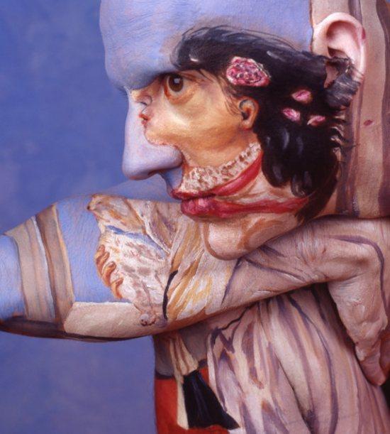 perierga.gr - Πίνακες ζωγραφικής σε... ανθρώπινο καμβά!