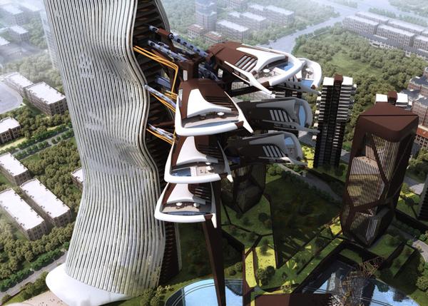 perierga.gr - Φουτουριστικό κτήριο εμπνευσμένο από τα... διαστημόπλοια!