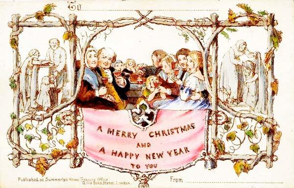 Η πρώτη χριστουγεννιάτικη κάρτα στον
