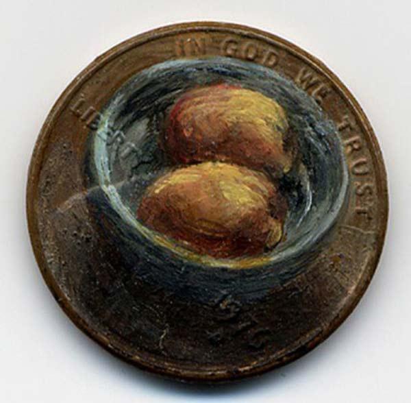 perierga.gr - Μινιόν... ελαιογραφίες επάνω σε κέρματα!