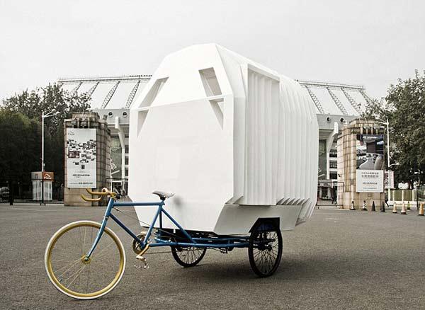 perierga.gr - Tricycle House: Παίρνω το σπίτι μου στο... ποδήλατό μου!