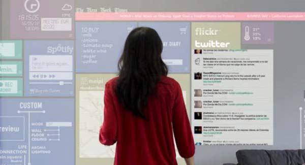 perierga.gr - Σπίτι-iPad: Κάθε επιφάνεια είναι και μία οθόνη αφής!