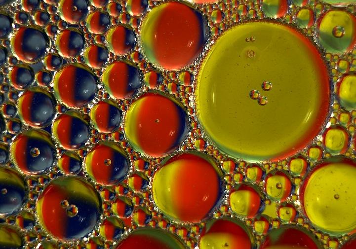 Οι σταγόνες λαδιού στο... μικροσκόπιο!