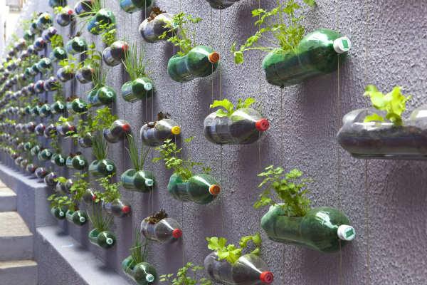 "perierga.gr - ""Κάθετοι κήποι"" σε πλαστικά μουκάλια!!!"