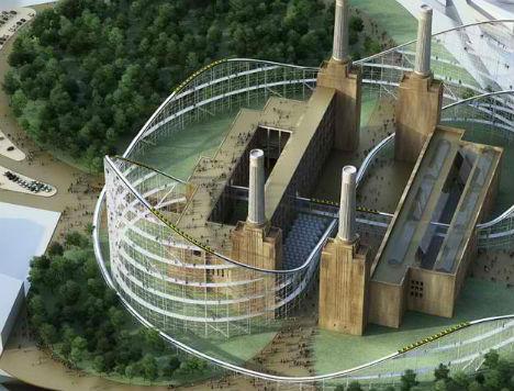Τρενάκι λούνα παρκ... διατρέχει ηλεκτρικό σταθμό ενέργειας!
