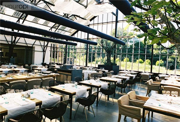 perierga.gr - Eστιατόριο μέσα σε θερμοκήπιο λαχανικών!