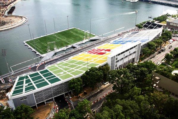 perierga.gr - Ένα γήπεδο ποδοσφαίρου μέσα στη θάλασσα!
