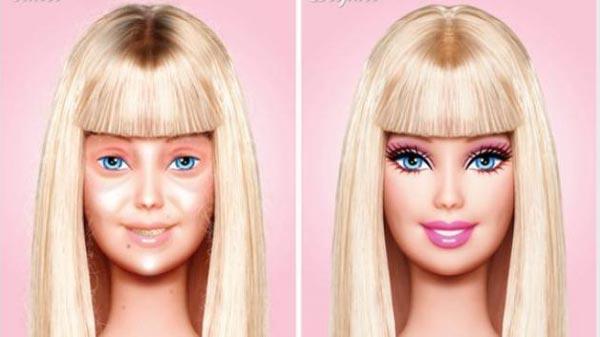 perierga.gr - Η διάσημη κούκλα Barbie χωρίς μέικαπ!