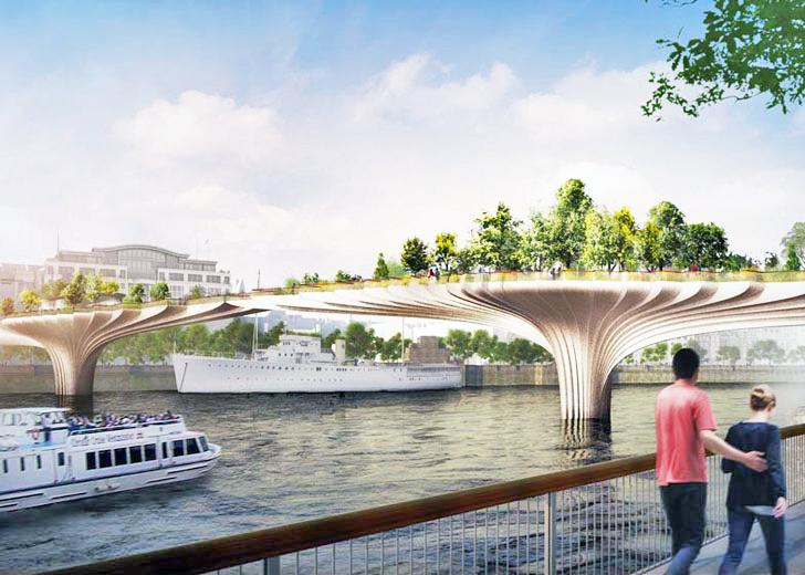 perierga.gr - Καταπράσινη γέφυρα για πεζούς ετοιμάζεται στον Τάμεση!