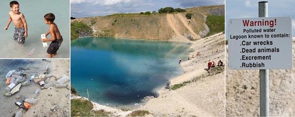 perierga.gr - Εντυπωσιακή τιρκουάζ λίμνη... γεμάτη δηλητήριο!