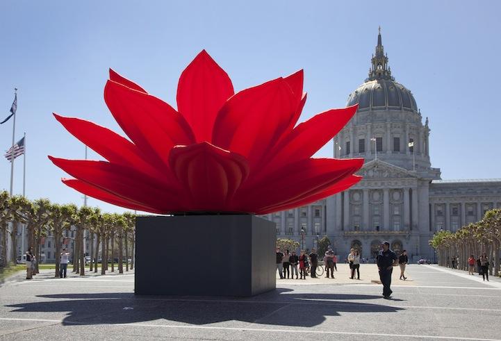 perierga.gr - Ένα κατακόκκινο λουλούδι ταξιδεύει στον κόσμο!