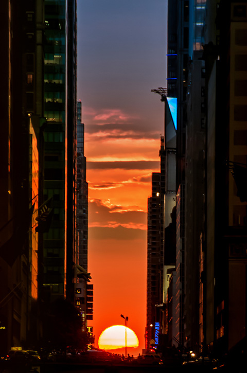 perierga.gr - Μανχάτανχεντζ: Το ιδανικότερο ηλιοβασίλεμα του κόσμου!