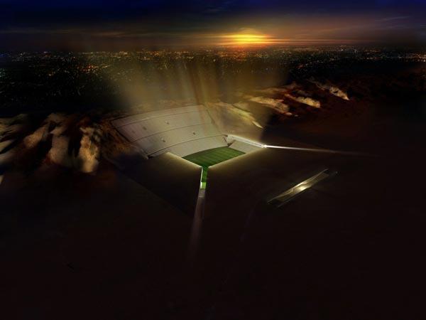 """perierga.gr - Γήπεδο ποδοσφαίρου """"βυθισμένο"""" στην έρημο!"""