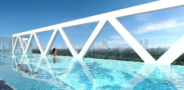 perierga.gr - Μια απίθανη πισίνα στον... ουρανό!