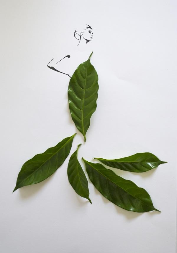 perierga.gr - Σχέδια μόδας με… φύλλα!